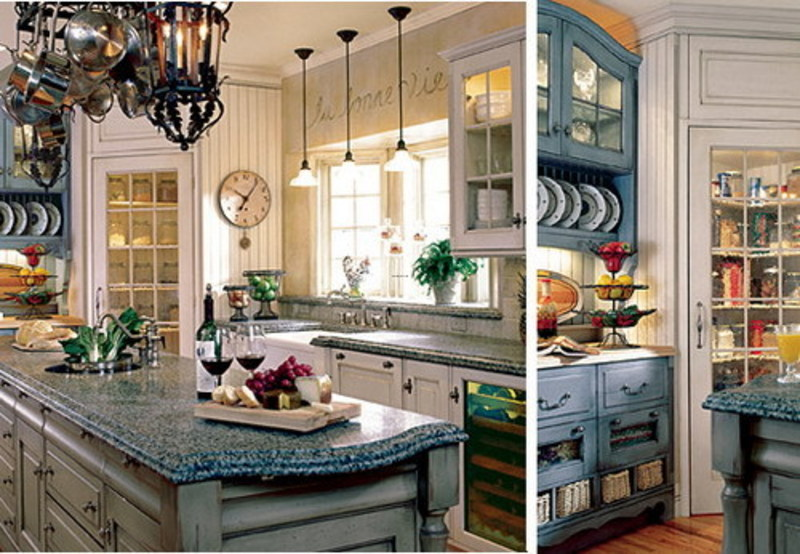 How to decorate a french country kitchen design bookmark for Country kitchen decor