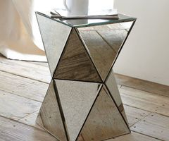 A Cool, Cubic Shape Makes This Mirrored Side Table ($159, Originally