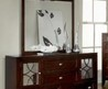 Sabby Brown Cherry Double Dresser With Mirror