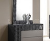 Roma Black And Grey Lacquer Dresser With Mirror