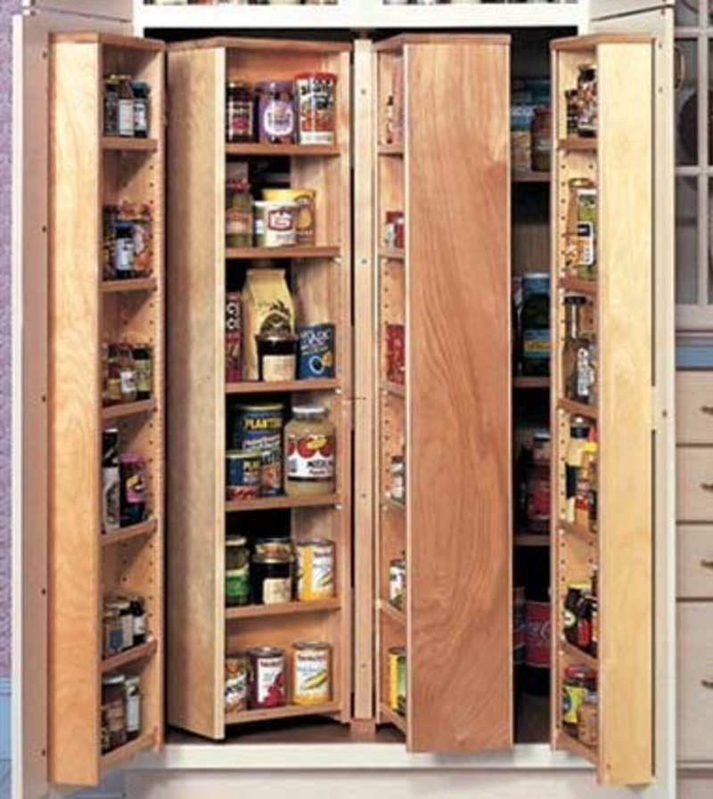 Effective Pantry Shelving Designs For Well Organized: Kitchen Pantry Cupboard Design Ideas / Design Bookmark #16661