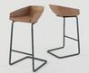 Modern Bar Stools And Kitchen Countertop Stools In Stylish Angular Shapes