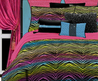 Hot Pink & Black Zebra Print Teen Girl Bedding Queen Comforter Set Or Bed In A Bag Colorful Rainbow