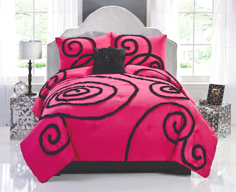 Hot Pink And Brown Twin Bedding