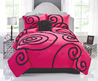Hot Pink & Black Teen Girl Bedding Full/Queen Comforter Set Chic Ruffles French Style