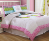 Peace Sign Zebra Stripe Teen Girl Bedding Twin Comforter Sets White Pink Black Lime Green