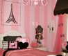 Cute Pink Teenage Bedroom Color For Small Space With Stripe Wall