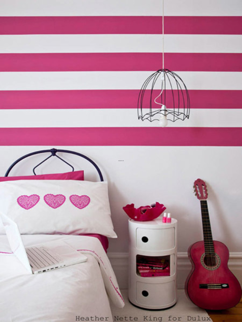 Modern striped wall paints designs design bookmark 16807 - Wall painting designs for bedrooms ...
