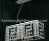 Contemporary Modern Crystal Chandelier With Chrome Finish (Md09275