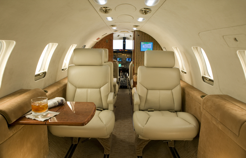 Awesome Modern Style Eye Chatching Private Jet Interior