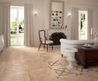 Captivating Beige Marble Tile To Embellish Classic Living Room Design Interior