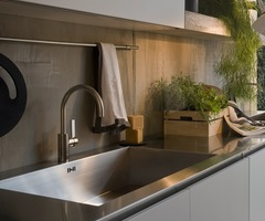 Enticing Stainless Steel Kitchen Sink And Counter Top  « Terrific  Japanese Kitchen – Inspiring Interior Design Topics