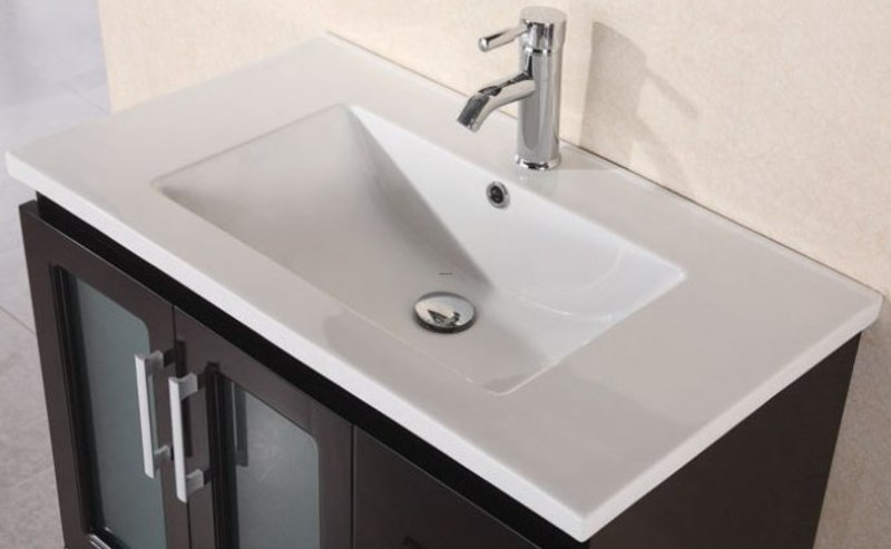 32 Quot Porcelain Countertop With Integrated Drop In Sink B80