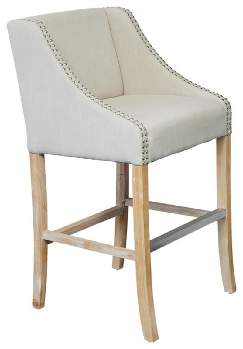 springfield single light beige fabric counter stool design bookmark 17156. Black Bedroom Furniture Sets. Home Design Ideas