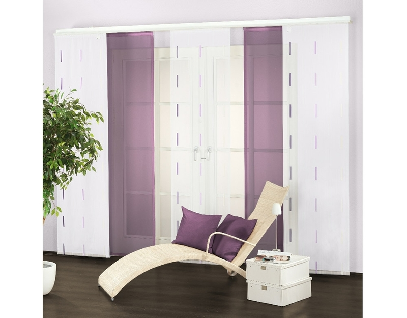 schiebevorhang rain man 60x245 cm magenta design. Black Bedroom Furniture Sets. Home Design Ideas