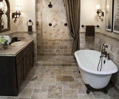 Bathroom. The Interesting Design Of The Shower Tile Patterns With The Modern Bathroom Decoration