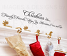 Wall Decal Sticker Quote Vinyl Art Christmas Holiday Family Friends Hope C13