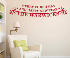 Personalised Family Christmas Vinyl Wall Sticker By Megan Claire