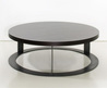 Round Wood Coffee Table As A Special Detail Of The Interior