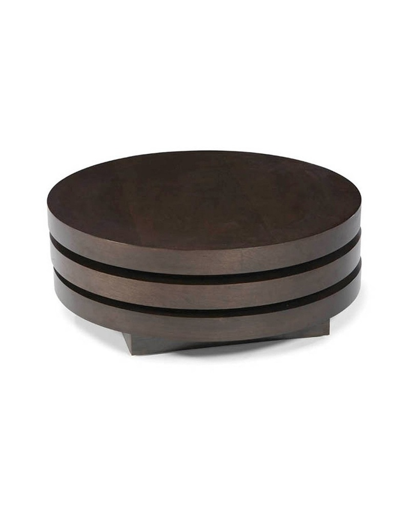 Modern Round Wooden Coffee Table 110: Modern Coffee Tables Round / Design Bookmark #17435