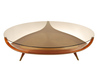 Fascinating Round Coffee Table With Fancy Gold Metal Cantilever And Chic Circular Glass On Top Chic Modern Coffee Table Design Ideas 7394, Amazing Chic Modern Coffee Table Design Ideas, There Are 20 Design And Decorating Ideas For Your Decoration That Sho