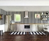 Love The Black And White Striped Wall.  Image From Booli.