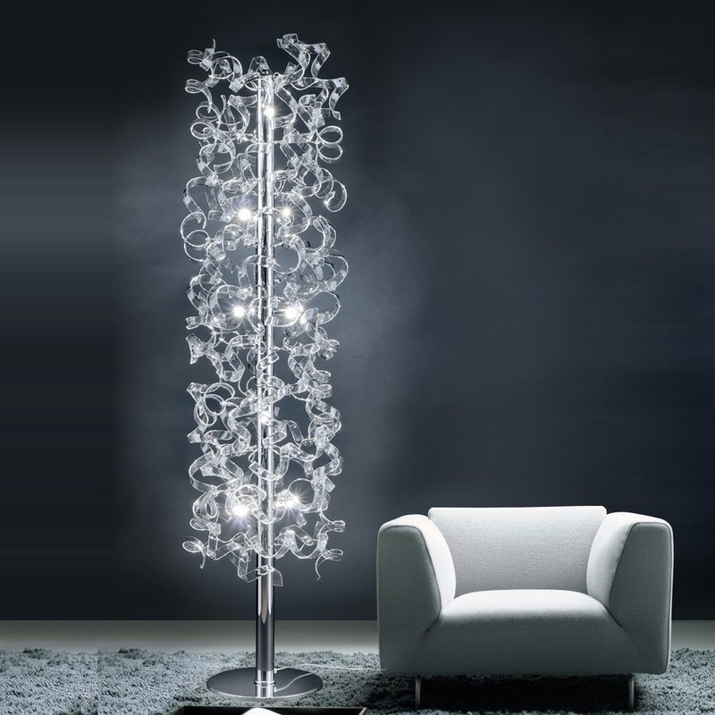 Unique And Cheap Traditional Floor Lamps With Linen Shade
