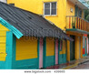 Colorful Mexican House Stock Photo & Stock Images