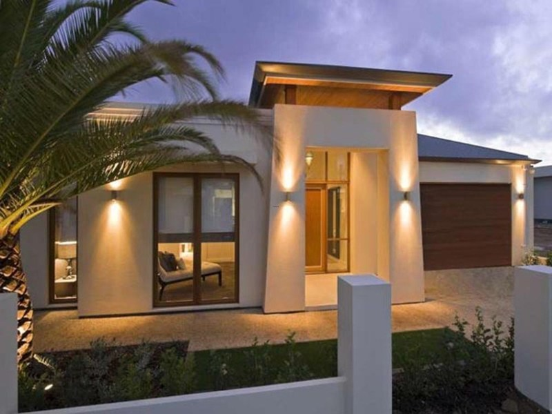 exterior lights of modern house modern home landscape architect decor