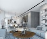 Incredible Spacious Room Concept In The Apartment With Integrated Living Room, Dining Room, And Kitchen In One Opened Room.. An Apartment Located In W Boutique Tower Designed By Ando Studio, Apartment Inspiration