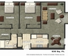 Innovative One Bedroom Studio Apartment Floor Plan