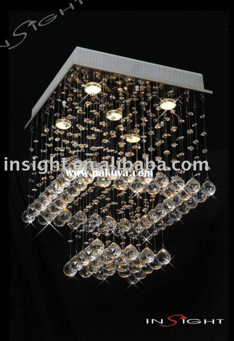 Modern Crystal Ceiling Chandelier Lighting , Manufacturers From Zhongshan  City Henglan Insight Lighting Factory