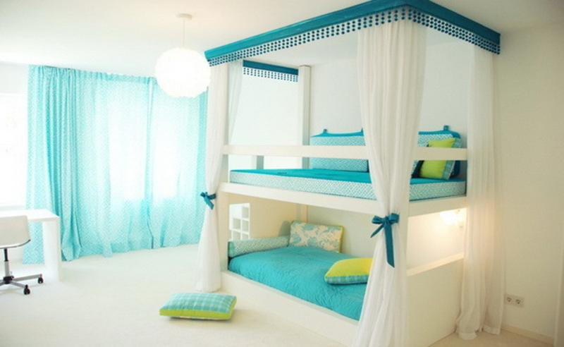 Girls Bedroom Decorating Ideas With Bunk Beds Design