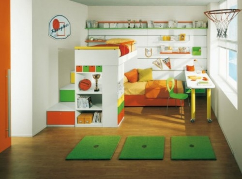 Small Bunk Beds For Kids And Storage, Comfortable Small Bedroom Design Ideas Featuring Cute Kids Bunk Beds Level In White And Sweet Pink Accent Carpet And Rack Wallpaper. Bedroom. Cute Kids Bedroom Bunk Beds For Kids Room. Modern Kids Bedroom Bunk Beds Ideas With Staircase. Cool Boys Rooms Wi