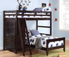 Amazing White Space Saving Bunk Bed Design Inspiration With Three Steps Ladder In Grey Wall Kids Bedroom