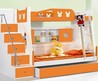 Amazing Small Kids Room With Combination White And Orange Stained Wooden Loft Bunk Bed With Drawers Also White Wooden Ladder And Staircase As Storage As Well Of Astonishing Small Kids Room Ideas For Your Beloved Children And Bedroom Interior Kids Room  Ad
