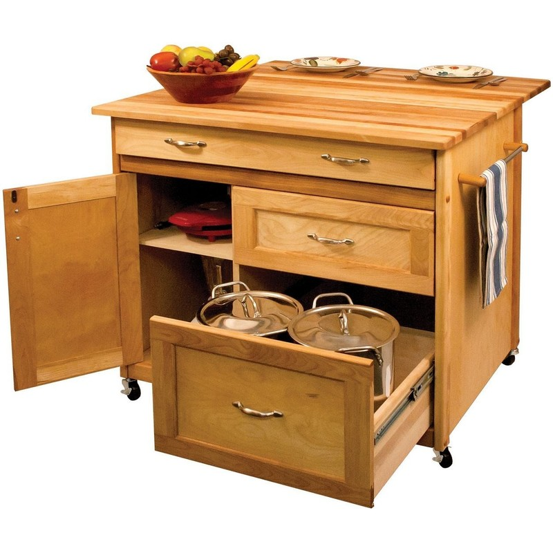 40 Catskill Craftsmen Portable Kitchen Island Cart 15218 Design Bookmark 18046