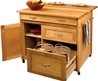 "40"" Catskill Craftsmen Portable Kitchen Island/Cart, 15218"