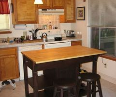 And Small Kitchen Island With Seating Design