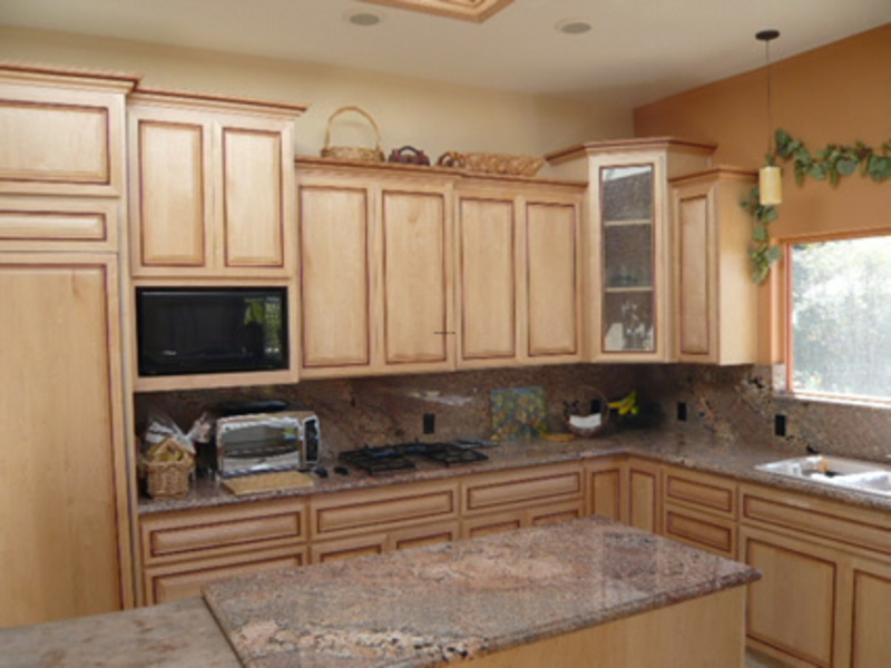 Natural maple kitchen design bookmark 18152 for Maple kitchen cabinets