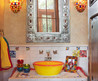 Decorative Colorful Mexican Style Simple Country Bathroom Toilet Designs Accessories Ideas