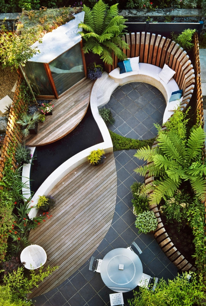 Small garden design examples design bookmark 18300 for Small backyard landscaping