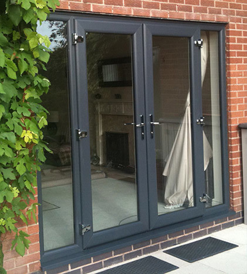 Anthracite grey coloured windows doors conservatories for Upvc french doors hull