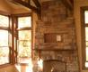 Reclaimed Wood Beams Vaulted Ceiling Great Room Meadow Creek Building Corp