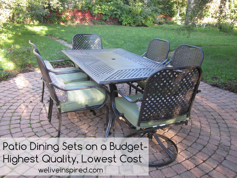 Where to buy low cost quality patio furniture and dining for Best low cost furniture