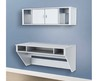 Prepac Designer Wall Mounted Floating Hutch (White) Wsuw