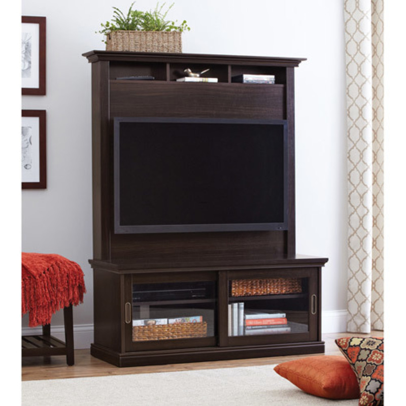Better homes and gardens chocolate oak tv stand with hutch Better homes gardens tv