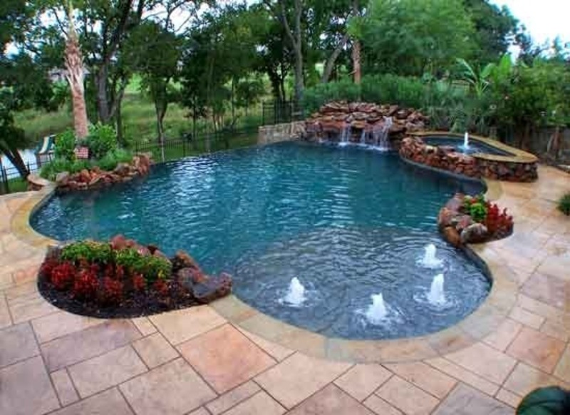 Building a swimming pool at home design bookmark 18587 for Inground swimming pool construction