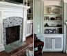 Custom Fireplace Tile Surround Glazed Wall Paneling