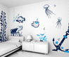 Bedrooms Wall Painting Designs With Life Under The Sea Wall Painting Designs » Viahouse.Com